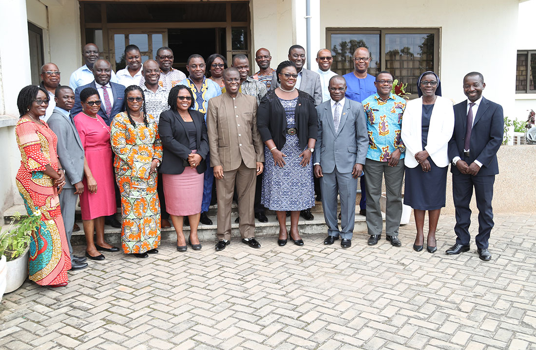The Vice-Chancellor and other officials with the University and the Principals of the 16 Colleges of Education