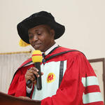 Prof. Asare-Bediako presenting the lecture