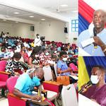 Prof. Francis Enu-Kwesi and Mr. Isaac Kosi speaking at the seminar